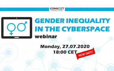 """Call for Participants – Webinar """"Gender Inequality in the Cyberspace""""  (27.07.2020)"""