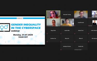 """Webinar """"Gender Inequality in the Cyberspace"""" held on July 27, 2020"""